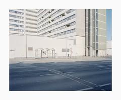 Krefeld, 2019 (Darius Urbanek) Tags: 120 6x7 kodak mamiya7 portra400 analog architecture color film mediumformat germany krefeld building urban concrete brutalism
