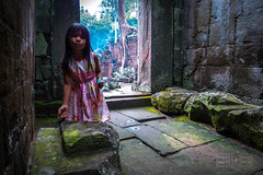 Girl at Preah Khan (shapeshift) Tags: ancient angkor asia cambodia candid candidphotography davidpham davidphamsf documentary galleries girl nun people portrait preahkhan ruins shapeshift siemreap siemreapprovince southeastasia streetphotography temple travel krongsiemreap happyplanet asiafavorites
