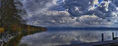 Karwoche am See (Helmut Reichelt) Tags: karwoche wolken april frühling gebirge berge starnbergersee spiegelung wasser see ammerland bayern bavaria deutschland germany leica leicam typ240 captureone12 hdrefexpro2 fhdr leicasummilux50mmf14asph panorama