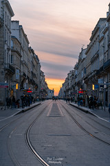 Tramway (PaaulDvD) Tags: bordeaux city gironde aquitaine france colors reflet sun sunset blue urbanscape cityscape