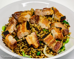 Oven roasted pork (garydlum) Tags: birdseyechillies fennel parsley pork porkbelly quinoa redonion rice springonion canberra australiancapitalterritory australia