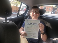Massive congratulations to Luis Miguel Ure passing his driving test with only three minor faults!  www.leosdrivingschool.com  WARNING: Getting your license is a good achievement however being a SAFE driver for life is the biggest achievement!