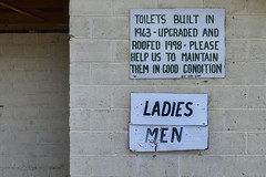 Invergordon VIC (phunnyfotos) Tags: phunnyfotos australia victoria vic invergordon recreationreserve toilets publictoilets ladies men sign 1963 concreteblock