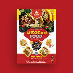3 (nijum_graphics) Tags: mexican food flyer tacos design clean colorfull creative a4 827x1169