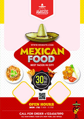 2 (nijum_graphics) Tags: mexican food flyer tacos design clean colorfull creative a4 827x1169