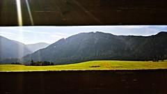 WP_20160928_034 (francesca407) Tags: mountain montagna landscape paesaggio sun sole sunny sunray raggio luce staccionata fence cornice frame