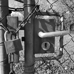 no escape (Rosmarie Voegtli) Tags: schloss fence closed dornach morningwalk