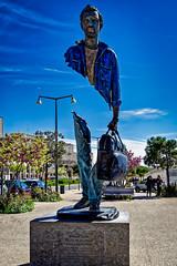 Statue Bleu de Chine (thierrybalint) Tags: statue sculpteur sculpture catalano nikon nikoniste balint thierrybalint art artistique