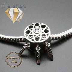 Charms attrape rêves et son bracelet en argent 925 (olivier_victoria) Tags: argent 925 bracelet charms maille serpent souple charm charme attrape reves attrapereves