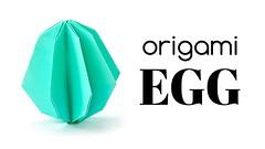 Origami Egg Tutorial - DIY Easter Decoration - Paper Kawaii (paperkawaii) Tags: origami instructions paperkawaii papercraft diy how video youtube tutorial