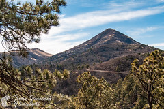Nogal Peak (Thomas Henneman) Tags: blue forestserviceroad green lincolnnationalforest mountain newmexico nogalcanyon nogalpeak peak road spring carrizozo usa