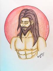 Sketchbook Men (LobitaDLuna) Tags: sketchbook staedtler coloredpencils