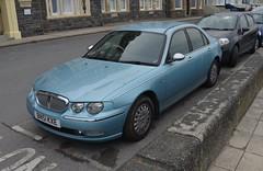 Rover 75 Connoisseur (Sam Tait) Tags: aberystwyth car spotting rover 75 connoisseur cdt turbo diesel 20 2001 blue