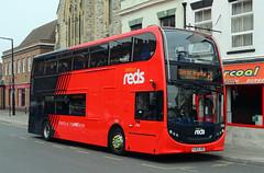 HJ63 JKO. (curly42) Tags: salisburyreds1545 hj63jko bus alexanderdennisenviro400 transport travel publictransport