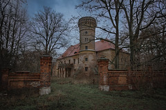 (jkatanowski) Tags: architecture mansion building old derelict decaying clouds trees abandoned forgotten urbex urban exploration europe poland lost lostplace