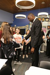 Lt. Gov. Gilchrist with students