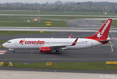 Corendon Airlines Europe 737-800 9H-TJA (birrlad) Tags: dusseldorf dus international airport germany aircraft aviation airplane airplanes airline airliner airlines airways arrival arriving landing landed runway corendon europe hurghada xr6881 touristic boeing b737 b738 737 737800 7378f2 9htja