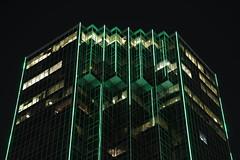 Emerald City (Chuck Diesel) Tags: atlanta buckhead building greenlights green tower skyscraper night