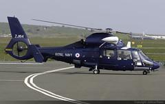 Royal Navy Aerospatiale SA365N2 Dauphin 2 ZJ164 @ Isle of Man Airport (EGNS/IOM) (Joshua_Risker) Tags: isle man airport egns iom ronaldsway royal navy rn aerospatiale airbus helicopters eurocopter sa365n2 dauphin 2 ii zj164 as65