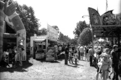 Chiswick Fun Fair May 2018, London, UK (girasombra) Tags: chiswick funfair bw uk london street nikonf301 homedeveloped homeprocessed film filmcamera