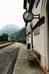 #train#railroad#fog#nebbia#ferrovia#time#tempo#mountain#montagna#orologio#attesa#white# (cremascosabrina) Tags: train railroad fog nebbia ferrovia time tempo mountain montagna orologio attesa white