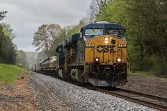 Fast Rain (travisnewman100) Tags: csx train railroad rr freight manifest locomotive es44ah wa subdivision atlanta division q580 628 owa
