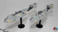 DSC_1389 (Jorstad Designs, LLC) Tags: lego star wars rebel alliance fleet mon calamari scale moc ucs jorstad designs llc mc80a mc80b home one liberty cruiser class hammerhead corvette mc30c frigate dp20 blockade runner
