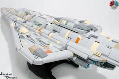 DSC_1368 (Jorstad Designs, LLC) Tags: lego star wars rebel alliance fleet mon calamari scale moc ucs jorstad designs llc mc80a mc80b home one liberty cruiser class hammerhead corvette mc30c frigate dp20 blockade runner