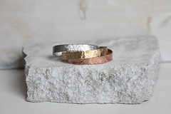 1S7A0492 (joeviejewelry) Tags: cuff stack hammered copper aluminum brass 38