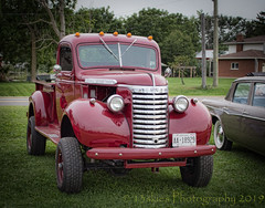 Big Red (HTT) (13skies) Tags: red truck pickup cool shiny sweet bright happytruckthursday singleshothdr carshow canont3i pickuptruck gmc
