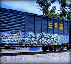 save (timetomakethepasta) Tags: save freight train graffiti art csx csxt boxcar atlanta akb tge fs network doa uaa uca kaos inc