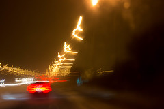 City lights (soniamarmen) Tags: abstract light movement speed city car streetlights blur