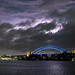 Another lightning strike over Sydneys Harbour Bridge