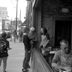ttsmf (pavel photography) Tags: street superikonta ilford streetconversation conversation 6x6film 6x6 columbus vintage120camera blackandwhitefilm mediumformatfilm mediumformat monochrome