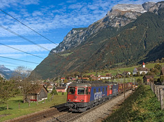 SBB Re620 061 (maurizio messa) Tags: gottardo gotthard switzerland svizzera uri cargo mau bahn ferrovia freighttrain fret guterzuge re66 re620 nikond7100 treni trains railway railroad intermodale alps alpi