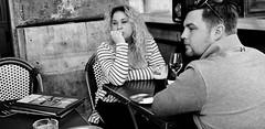 Art of conversation. (Baz 120) Tags: candid candidstreet candidportrait city contrast street streetphotography streetphoto streetcandid streetportrait strangers rome roma ricohgrii europe women monochrome monotone mono noiretblanc bw blackandwhite urban life portrait people italy italia grittystreetphotography faces decisivemoment