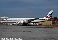 Delta Air Lines DC-8-51 N8008D (planepixbyrob) Tags: delta deltaairlines mcdonnelldouglas douglas dc8 n8008d prototype retro kodachrome atl atlanta hartsfield