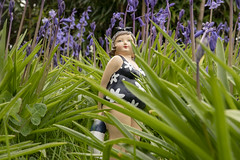 fat lass in the blue bells 03 (Mark Rigler -) Tags: fat lass girl woman sexy cute sweet female beauty face model scale figure swim suit sun glasses boobs tetas tatas size frauen hände brüste white bikini bathingsuit woods trees forest leaves