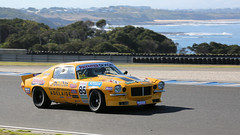 Big YELLOW (3/3) (Jungle Jack Movements (ferroequinologist)) Tags: yellow phillip island grand prix cowes vic victoria paynter dixon touring car masters tcm karafilovski ford mustang trans am boughen mercury comet middleton chev chevrolet gm camaro bass strait motor racing pass race speed cars hottie track practice pole position times timing hard competition competitive event saloon sports racer driver mechanic engine oil petrol build fast faster fastest grid circuit drive helmet marshal starter sponsor number class motorsport classic v8