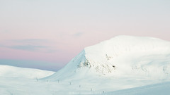 Blue hour in the arctic (A. Gosewehr) Tags: bluehour snow ice mountains tromsoe winter purple sunset cold norway arctic schnee eis blauestunde rosa norwegen