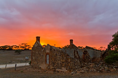 Red Creek Road ruin, Fleurieu Peninsula - South Australia (Trace Connolly Photography) Tags: australia colour color colourful outdoor outdoors outside eos canon sunlight exposure flickr landscape earth environment sunrise contrast red green yellow blue black white scene scenery cloud clouds sky scenic weather holiday view country countryside orange purple pink building architecture stone brick buildings southaustralia