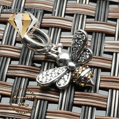 Charms Mielina abeille et son bracelet en argent 925 (olivier_victoria) Tags: argent 925 bracelet charms fermoir maille abeille serpent souple charm charme mousqueton mielina