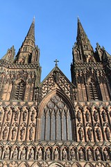 Lichfield Cathedral (richardr) Tags: lichfield cathedral lichfieldcathedral church staffordshire midlands themidlands gothic gothicarchitecture medievalarchitecture medieval building architecture england english britain british greatbritain uk unitedkingdom europe european old history heritage historic