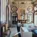 Interior of luxury hotel in Estoi, Portugal