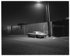 Night ride (ADMurr) Tags: la eastside night light junker street lamp cracked pavement lf toyo 135mm arista 100 dba255