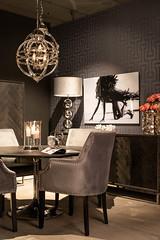 Richmond Interiors (Maurice Tiggeler for Blue Jam Photography) Tags: chair stoel table tafel blackbonecollection lamp schemerlamp print kast cabinet dressoir dresser