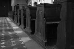 L'ombre de soi- même..... (OGNB) Tags: canon6dmarkii bw nb bench banc church église