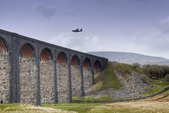 Ribblehead and RAF (SD Images) Tags: ribbleheadviaduct northyorkshirenationalpark raf c130 c130hercules zh887 whernside northyorkshire