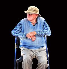Not Woody Allen ... (daystar297) Tags: portrait candid elderly old man frail nikon