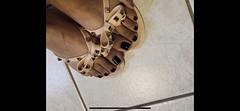 New sandals ❤️ (sandalman2) Tags: nailpolish toes malefeet footfetish fetish feet